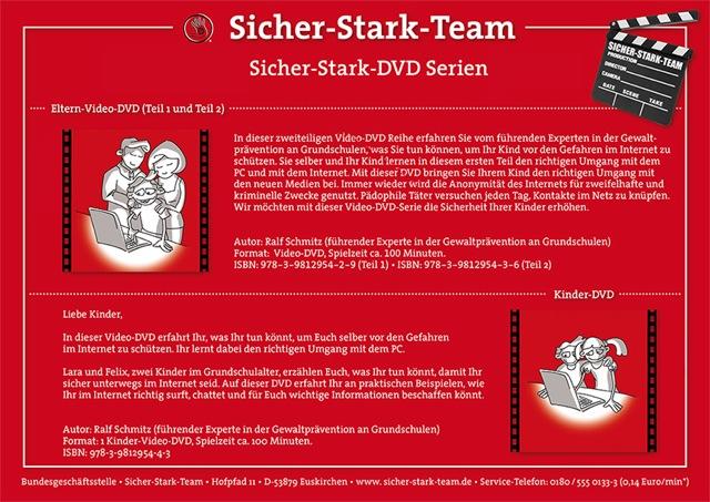 MIt der Video-DVD-Serie zeigt das Sicher-Stark-Team, wie Sie einen geschützten Rahmen schaffen, in dem Ihr Kind sicher surfen kann